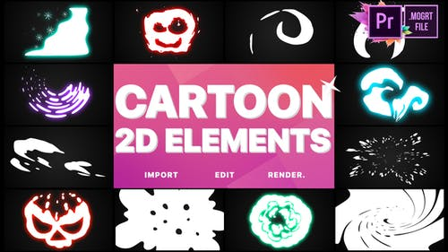 2D Cartoon Elements   Premiere Pro MOGRT
