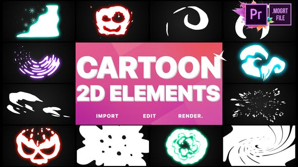 Cover Image for 2D Cartoon Elements | Premiere Pro MOGRT