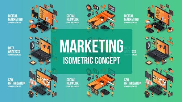 Thumbnail for Digital Marketing - Isometric Concept