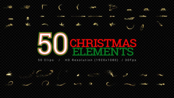 Cover Image for Christmas Elements - 50Clips HD