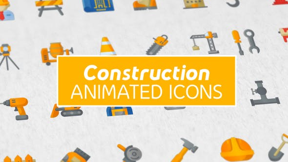 Thumbnail for Construction & Peinture Moderne Plat Icones ne Animée