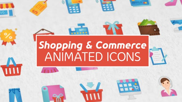 Thumbnail for Shopping and Commerce Modern Flat Animated Icons