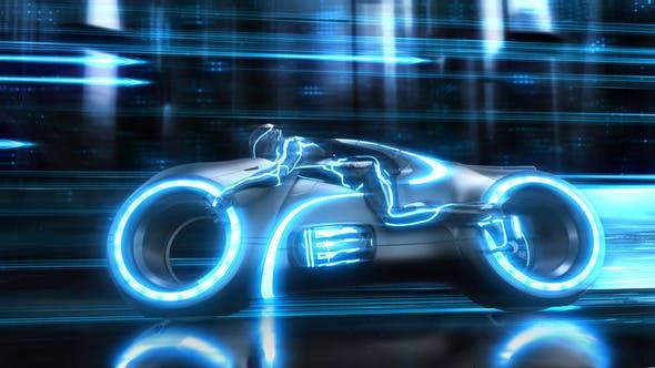 Thumbnail for Futuristic Neon Bike Logo