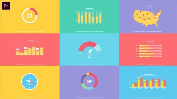 Thumbnail for Flat Infographics Toolkit I MOGRT for Premiere Pro