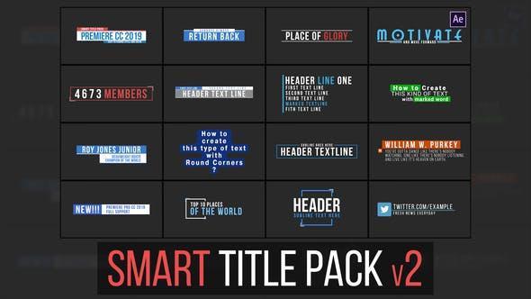 Thumbnail for Smart Title Pack v2