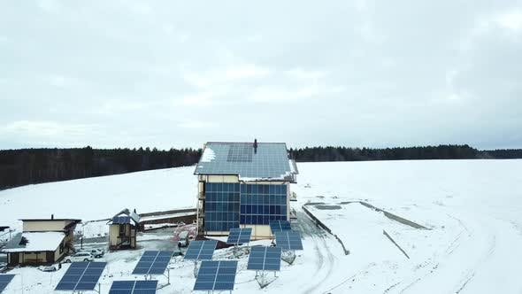 Hotel Complex with Solar Panels