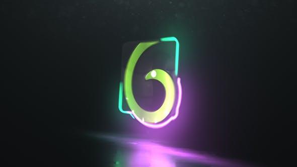 Thumbnail for Neon Glitch Logo Reveal