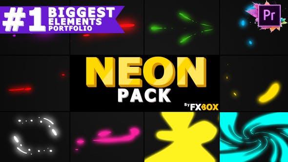 Thumbnail for Neon Shape Elements | Premiere Pro MoGRT