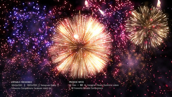 Thumbnail for Editable Fireworks Template
