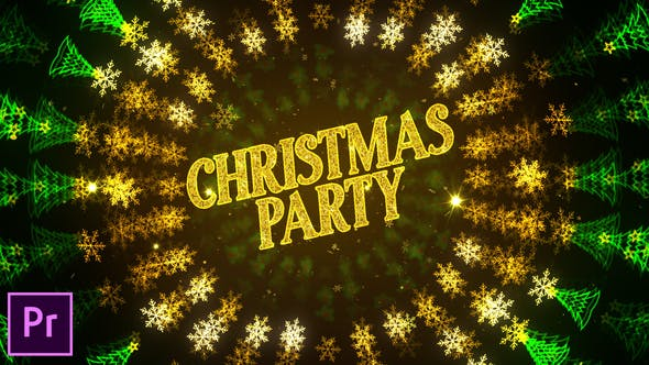 Thumbnail for Christmas Party Invitation - Premiere Pro