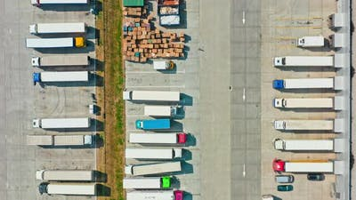 Transport Industry Logistics Business Truck Delivery Park City