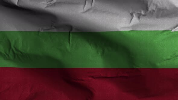 Bulgaria Flag Textured Waving Background 4K