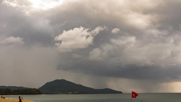 Rain on a Tropical Island