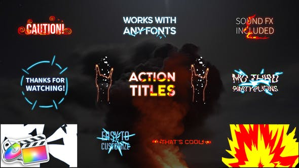 Thumbnail for Action Titles Pack | FCPX