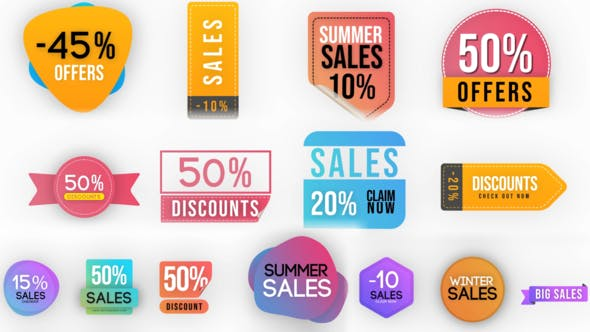 Thumbnail for Sales Badges Elements Pack