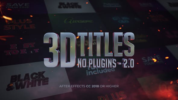 Thumbnail for 3D Titles - No Plugins 2.0