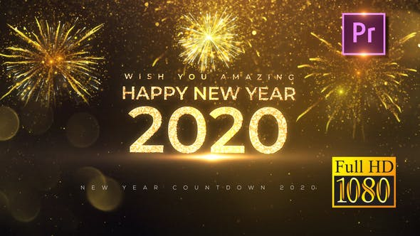 Thumbnail for New Year Countdown 2020 - Premiere PRO