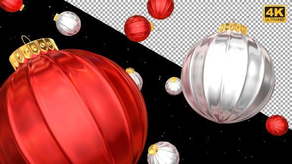Thumbnail for Christmas Balls Transitions 4K