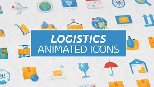 Logistik & Transport Modern Flache Animierte Icons