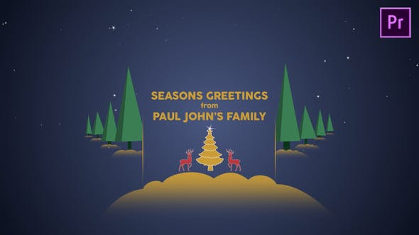 Thumbnail for Parallax Christmas Greetings - Premiere Pro