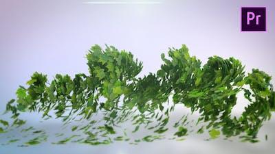 Flying Leaves Logo Reveal – Premiere Pro