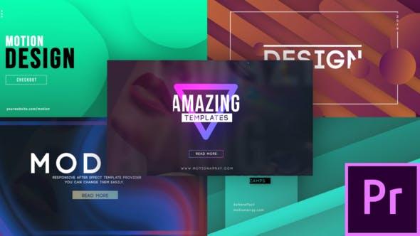 Thumbnail for Pack de titres créatifs - MOGRT