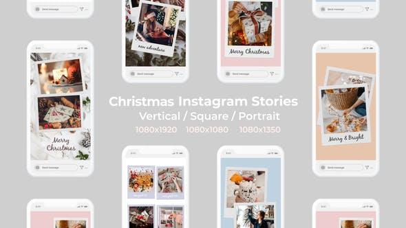 Thumbnail for Christmas Instagram Stories | Vertical Square Portrait