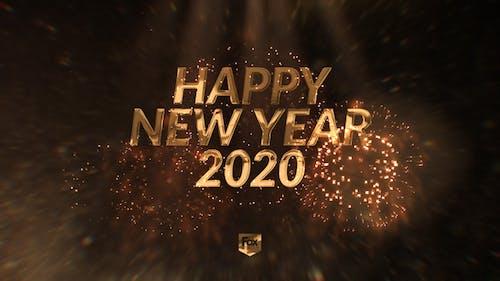 New Year's eve elegant countdown
