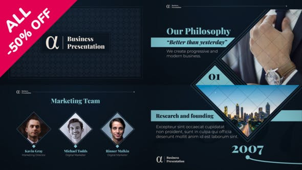 Thumbnail for Alpha Business Presentation