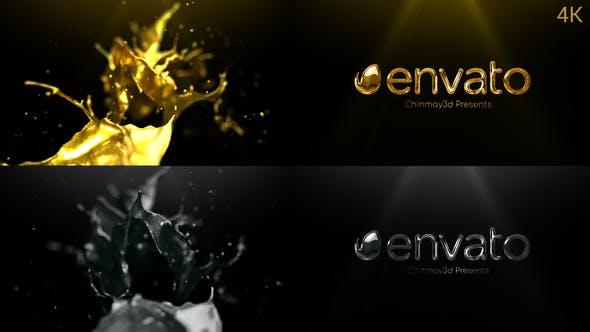 Golden & Silver Liquid Logo Reveal