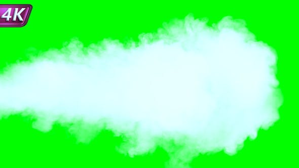 Intense Jet Of Dense White Smoke