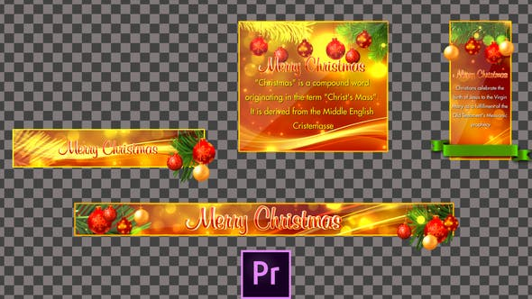 Thumbnail for Christmas Lower Thirds - Premiere Pro