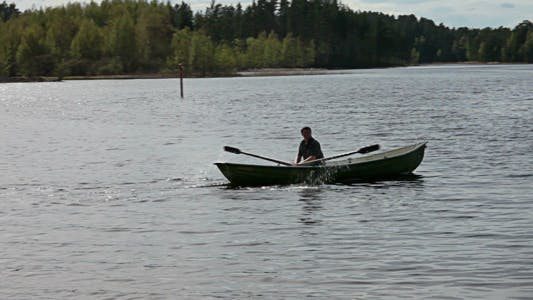 Thumbnail for Rowing Boat Floats On The Lake
