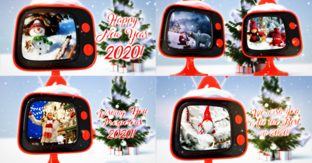 Christmas retro TV