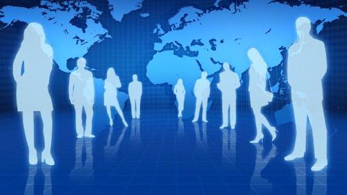 Geschäftsleute in der Finanzwelt