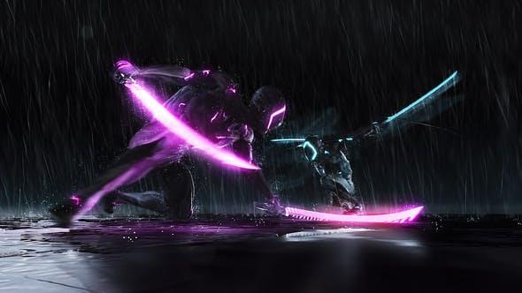 Cover Image for Cyborg Ninja Battle Logo