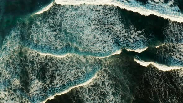 Thumbnail for Ocean Waves and Sea Surf, Aerial View