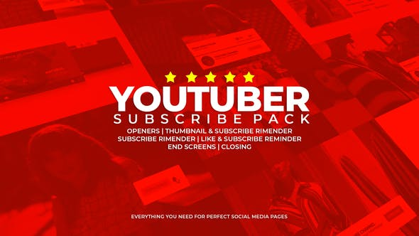 Thumbnail for Youtuber Subscribe Pack
