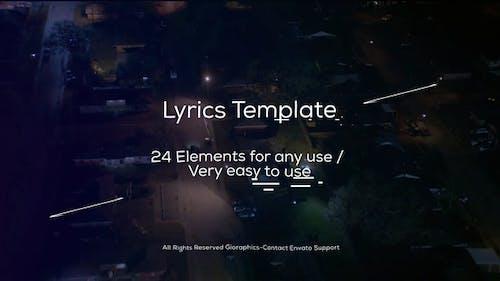 Lyrics Template and Elements