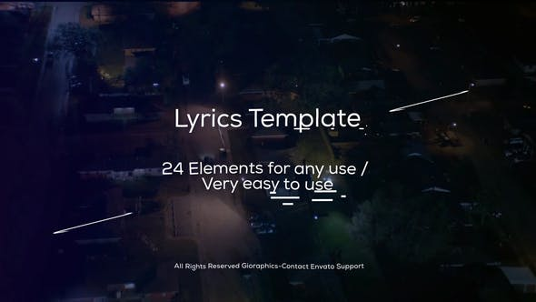 Cover Image for Lyrics Template and Elements