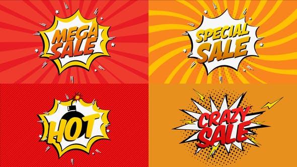 Thumbnail for Dibujos animados de venta de cómics