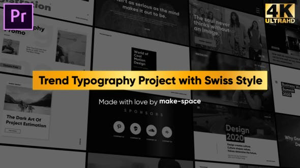 Thumbnail for Swiss Typography Pack - for Premiere Pro | Essential Graphics
