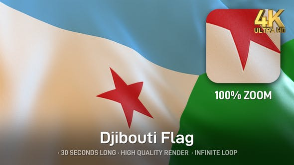 Thumbnail for Djibouti Flag - 4K