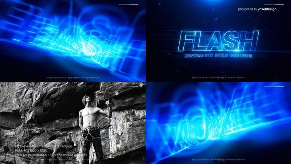 FLASH Cinematic Title