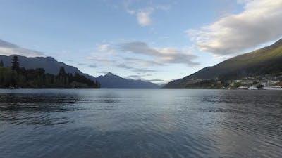 Timelapse sunrise Lake Wakatipu