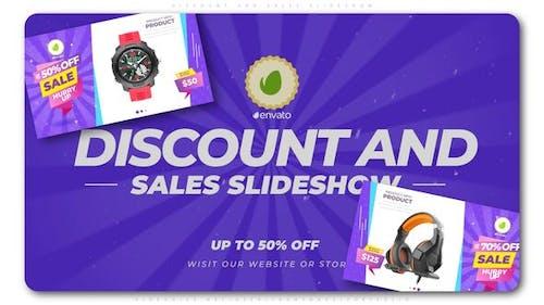 Discount-und Verkaufs-Slideshow