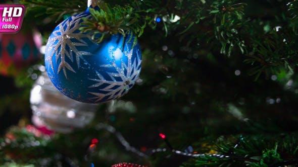 Glitzernde Weihnachtsdekoration