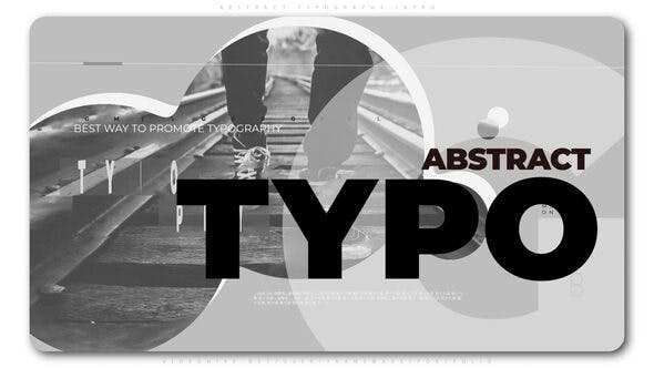 Thumbnail for Abstract Typography Intro