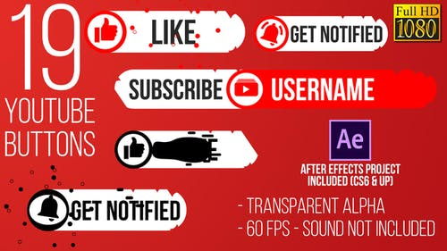 Youtube Subscribe Button Splat FullHD