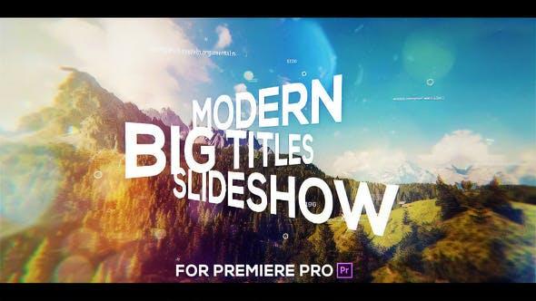 Thumbnail for Big Titles Slideshow for Premiere Pro